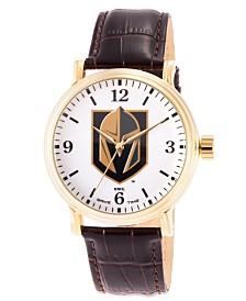 Gametime NHL Vegas Golden Knights Men's Shiny Gold Vintage Alloy Watch