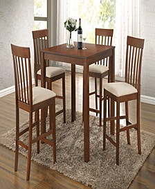 Miranda 5-Piece Counter Height Set