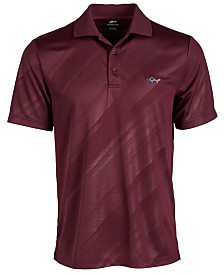 Attack Life by Greg Norman Men's Embossed Logo Polo