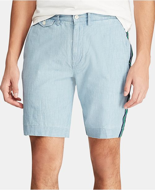 "Polo Ralph Lauren Men's 9.25"" Classic-Fit Chambray Shorts"