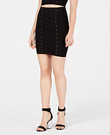 GUESS Lace-Up Mirage Skirt