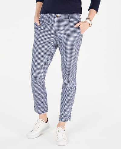 Tommy Hilfiger Gingham Chino Pants