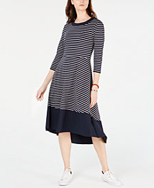 Tommy Hilfiger Striped Pullover Maxi Dress