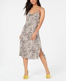 Trixxi Juniors' Tie-Front Printed Dress