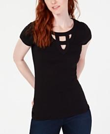 ae1c3a98053 I.N.C. Cutout T-Shirt