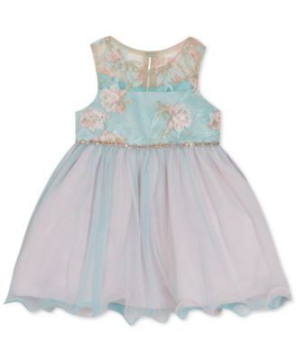 Baby Girls Floral Embroidered Dress