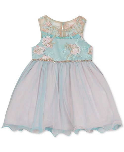 672b628a87f Rare Editions Baby Girls Floral Embroidered Dress   Reviews ...