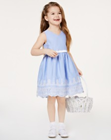 8ac2d036d13 Rare Editions Toddler Girls Embroidered Gingham Dress