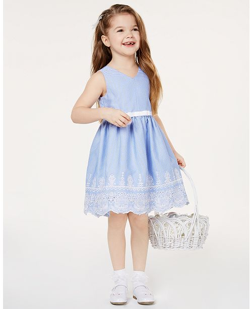 29cb8f6cc67 Rare Editions Toddler Girls Embroidered Gingham Dress   Reviews ...
