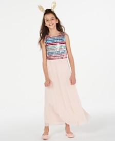 Sequin Hearts Big Girls 2-Pc. Sequin Dress