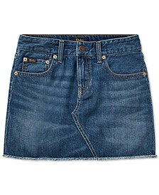 폴로 랄프로렌 여아용 청치마 Polo Ralph Lauren Little Girls Denim Cotton Skirt,Bales Wash