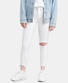 Levi's® 721 Ripped High-Rise Ankle Skinny Jeans