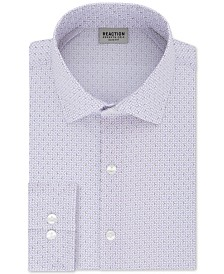 Kenneth Cole Reaction Slim-Fit Techni-Cole Flex Men's Graphic Dress Shirt