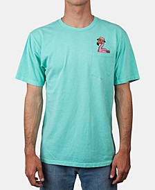 Men's Flamingo Pocket Graphic T-Shirt