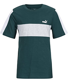 Puma Big Boys Colorblocked Logo-Print T-Shirt