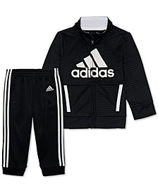 adidas Little Boys 2-Pc. Logo Track Jacket & Pants Set
