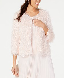 Alfani 3/4-Sleeve Sequin Confetti Jacket, Created for Macy's