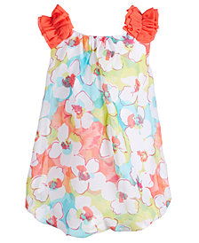 First Impressions Baby Girls Tropical-Print Bubble Dress, Created for Macy's