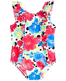 First Impressions Baby Girls Floral-Print Swimsuit, Created for Macy's