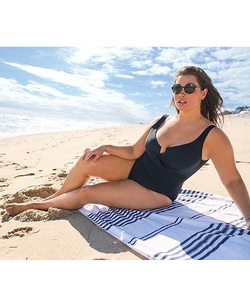 f5188ea709d ... Miraclesuit Plus Size Escape Underwire Allover-Slimming Wrap One-Piece  Swimsuit ...