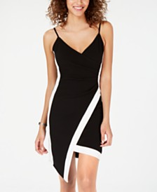 Almost Famous Juniors  Sleeveless Faux-Wrap Dress - Dresses ... cb6934f0c