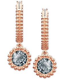Swarovski Hoop & Crystal Drop Earrings