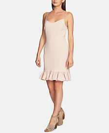 Ruffle-Hem A-Line Dress