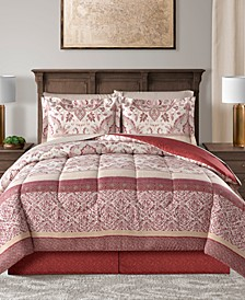 CLOSEOUT! Delaney Reversible 8-Pc. Full Comforter Set