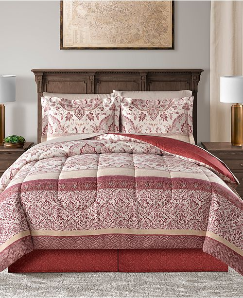 Sunham CLOSEOUT! Delaney Reversible 6-Pc. Twin Comforter Set