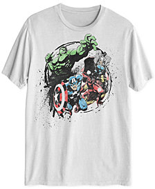 Avengers Splatter Men's Graphic T-Shirt