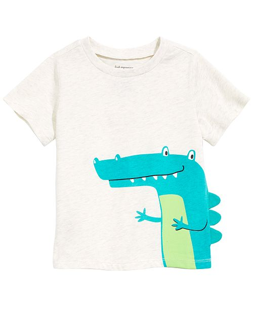 First Impressions Baby Boys Cheeky Alligator Graphic T-Shirt, Created for Macy's