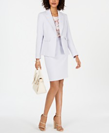 Nine West Blazer, Printed Blouse & Pencil Skirt