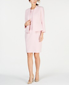 Kasper One-Button Jacket & Solid Sheath Dress
