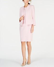 d1abfa3be2c75 Kasper One-Button Jacket   Solid Sheath Dress