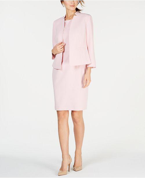 fdd6247ebdf Kasper One-Button Jacket   Solid Sheath Dress   Reviews - Wear to ...