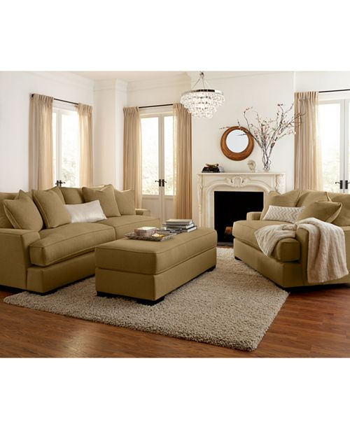 Furniture Ainsley Fabric Sofa Living Room Collection Created For Macy S