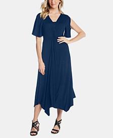 Asymmetrical Twist-Front Dress