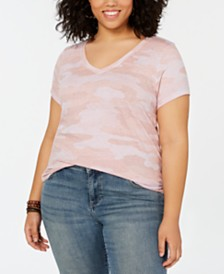 Lucky Brand Plus Size Cotton Camo-Print T-Shirt