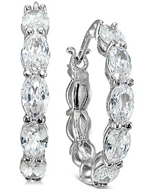 Cubic Zirconia Hoop Earrings, Created for Macy's