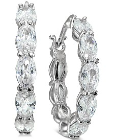 Giani Bernini Cubic Zirconia Hoop Earrings, Created for Macy's