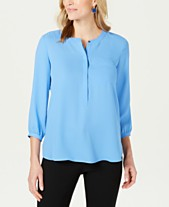 74f5d978 JM Collection Pleated-Back Blouse, Created for Macy's