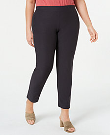 Eileen Fisher Plus Size Slim Ankle Pants