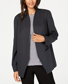 Eileen Fisher Open-Front Angled Tencel ™ Blazer