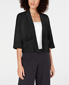 Eileen Fisher Open-Front Cardigan Sweater