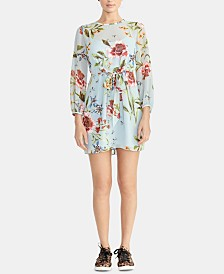 RACHEL Rachel Roy Floral-Print Tie-Front Dress, Created for Macy's