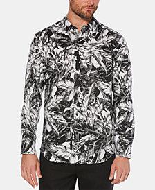 Cubavera Men's Tropical-Print Linen Shirt