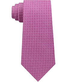Calvin Klein Men's Grid Slim Silk Tie