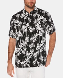 Cubavera Men's Big & Tall Palm Tree-Print Shirt