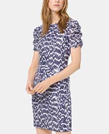 MICHAEL Michael Kors Embellished Ruched-Sleeve Dress