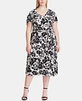a7a430d1f6 Lauren Ralph Lauren Plus Size Floral-Print Dress